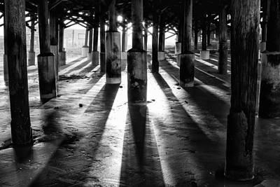 B Photograph - Pier Shadows by Stefan Mazzola