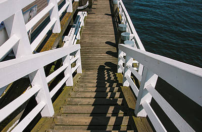 Pier Stairs Art Print by Pati Photography