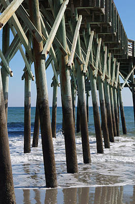Photograph - Pier Structure by MM Anderson