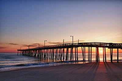 Art Print featuring the photograph Pier Sunrise by Gregg Southard