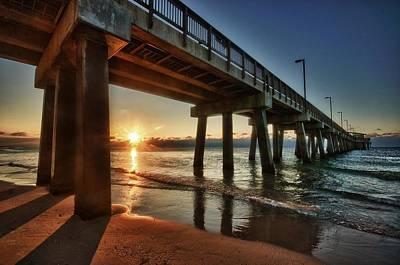 Pier Sunrise Original by Michael Thomas