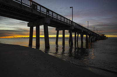 Digital Art - Pier Sunrise On A Cold January Morning by Michael Thomas