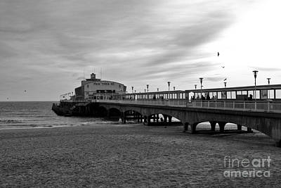 Photograph - Pier Theatre Bournemouth In Monochrome by Terri Waters