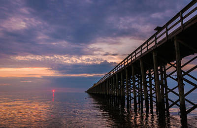 Horizon Lines Photograph - Pier To The Horizon by Kristopher Schoenleber
