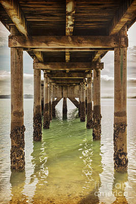 Pier Under 2 Print by Colin and Linda McKie