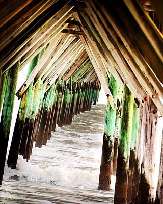 Photograph - Pier by Val Stone Creager