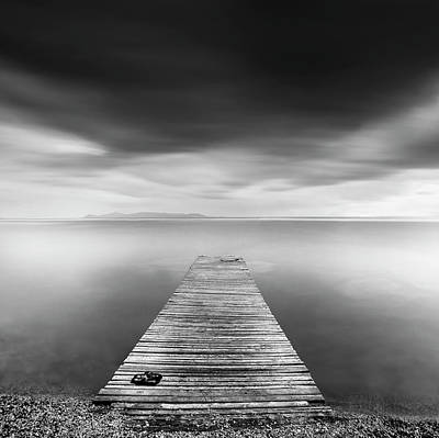 Boardwalks Photograph - Pier With Slippers by George Digalakis