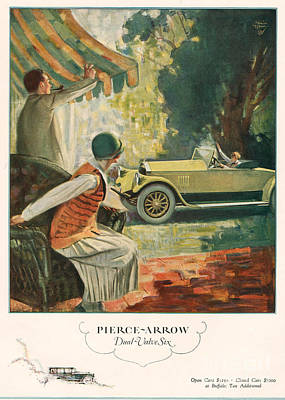Pierce Arrow 1925 1920s Usa Cc Cars Art Print by The Advertising Archives