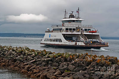 Pierce County Washington Ferry Art Print