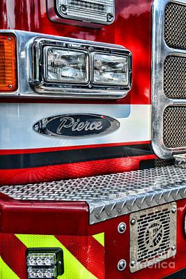Pierce Fire Truck  Art Print by Paul Ward