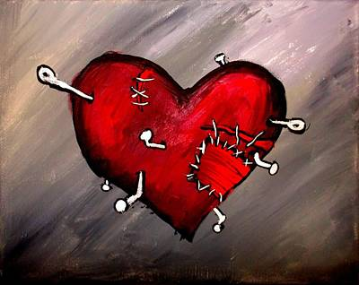 Painting - Pierced Heart by Marisela Mungia