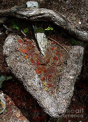 Tree Roots Digital Art - Pierced In The Heart by L T Sparrow