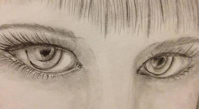 Piercing Eyes Art Print