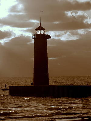 Photograph - Pierhead Lighthouse Kenosha Wisconsin by Kay Novy
