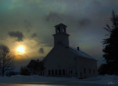 Photograph - Piermont Meeting House by Nancy Griswold