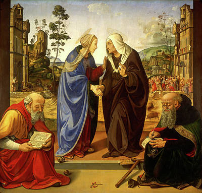 Abbot Painting - Piero Di Cosimo, The Visitation With Saint Nicholas by Litz Collection