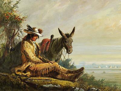 Donkey Digital Art - Pierre by Alfred Jacob Miller