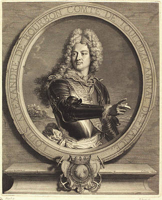 Pierre Drevet After Hyacinthe Rigaud, French 1663-1738 Art Print
