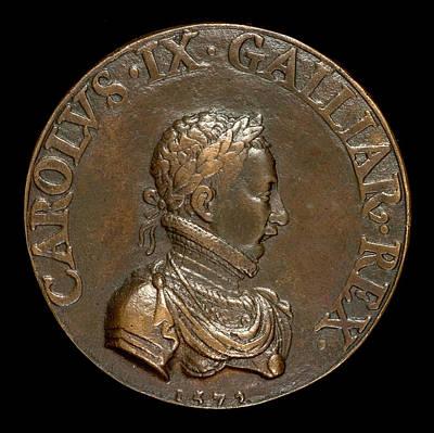 Pierre II Woeiriot De Bouzey, Charles Ix, 1550-1574 Art Print