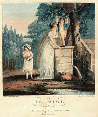 Pierre-michel Alix French, 1762 - 1817. Le Midi Art Print by Litz Collection
