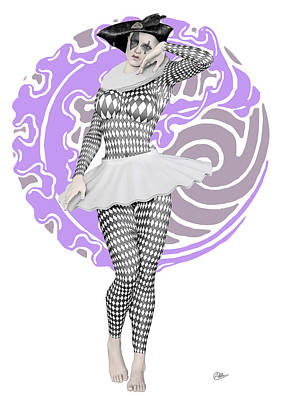 Showgirls Digital Art - Pierrette Mime by Quim Abella