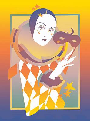Pierro Flopped Print by David Chestnutt