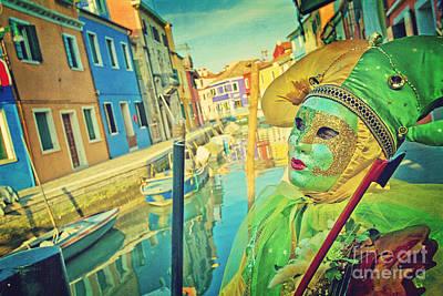 Plaster Mask Photograph - Pierrot 1 by Danilo Piccioni