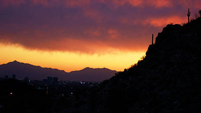 Photograph - Piestewa Sunset by Daniel Woodrum