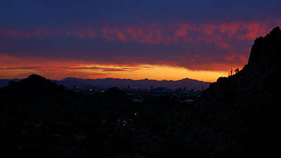 Photograph - Piestewa Sunset No.2 by Daniel Woodrum