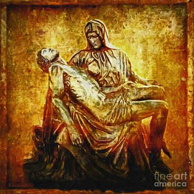 Madonna Digital Art - Pieta 2 by Lianne Schneider