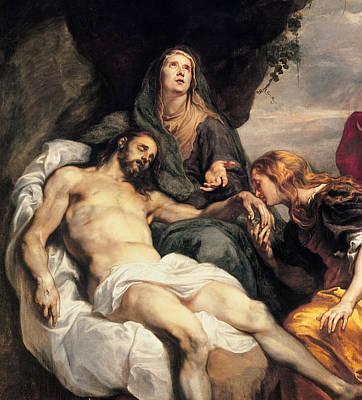Jesus Art Painting - Pieta, Circa 1629 by Sir Anthony van Dyck