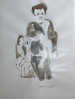Pieta In Mother's Arms Original by Esther Newman-Cohen