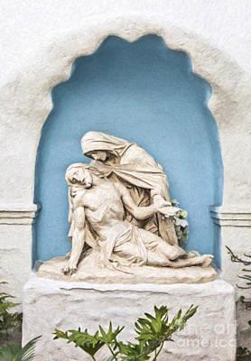 Pieta Digital Art - Pieta Mission San Diego De Alcala California Usa by Liz Leyden