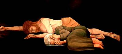 Painting - Pieta - Mother And Child by Kevin Davidson