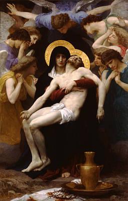 Jesus Christ Digital Art - Pieta by William Bouguereau