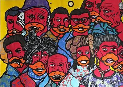 Van Dongen Mixed Media - Pieter And His Favorit Artists by Pieter Zandvliet