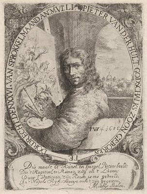 Hand Paint Brushed Painting - Pieter Van Der Hulst At Half Length To The Left by Pieter Van Der Hulst (iv)