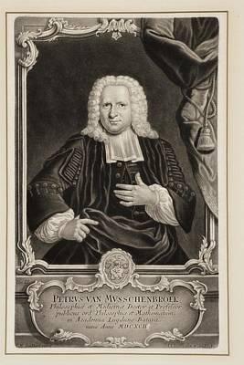 Pieter Van Musschenbroek Print by Gregory Tobias/chemical Heritage Foundation