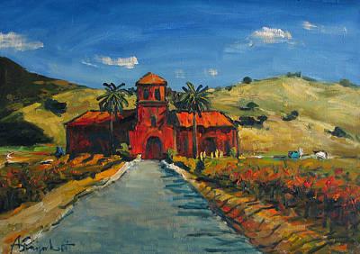 California Vineyard Painting - Pietra Santa Vineyard. California by Alexei Biryukoff