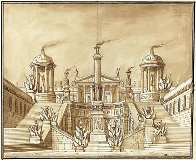 Pietro Gonzaga Italian, 1751 - 1831, Fantasy Of An Ancient Art Print by Quint Lox