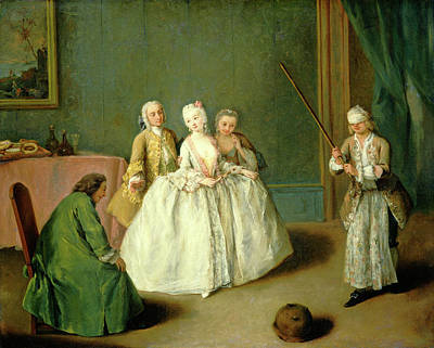 Pietro Longhi Painting - Pietro Longhi, The Game Of The Cooking Pot by Litz Collection