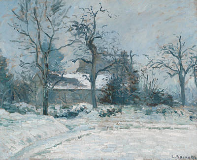 Piettes House At Montfoucault Art Print by Camille Pissarro