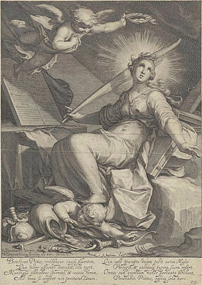 Trample Drawing - Piety, Willem Isaacsz by Willem Isaacsz. Van Swanenburg And Petrus Scriverius And Johannes Janssonius