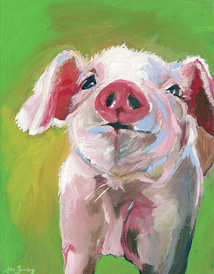Piglets Painting - Pig by Anne Seay