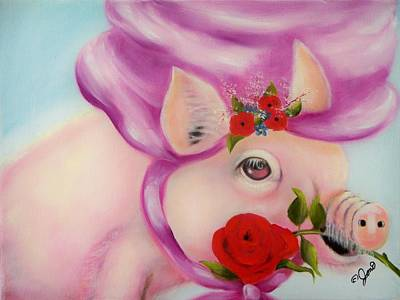 Painting - Pig In Purple by Joni McPherson