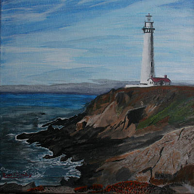 Painting - Pigeon Lighthouse Daytime Titrad by Ian Donley