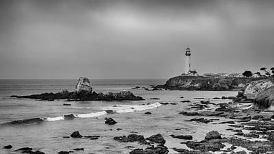 Photograph - Pigeon Point - Black And White by Harold Rau