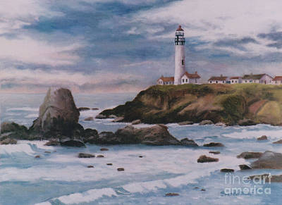 Painting - Pigeon Point Light by Brenda Thour