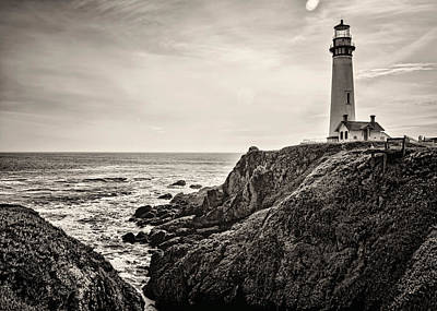Pigeon Point Light Art Print by Heather Applegate