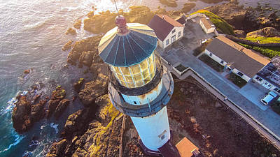 Painting - Pigeon Point Lighthouse 1p by David Junod